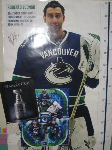 Oops - how did this one get in there?  A poster that is prominent in our hallway - GO CANUCKS GO!