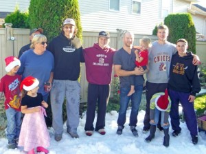 Snow for Christmas in August. (photo via Chilliwack Times)