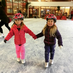 A great family moment. Skating together on their own for the first time.